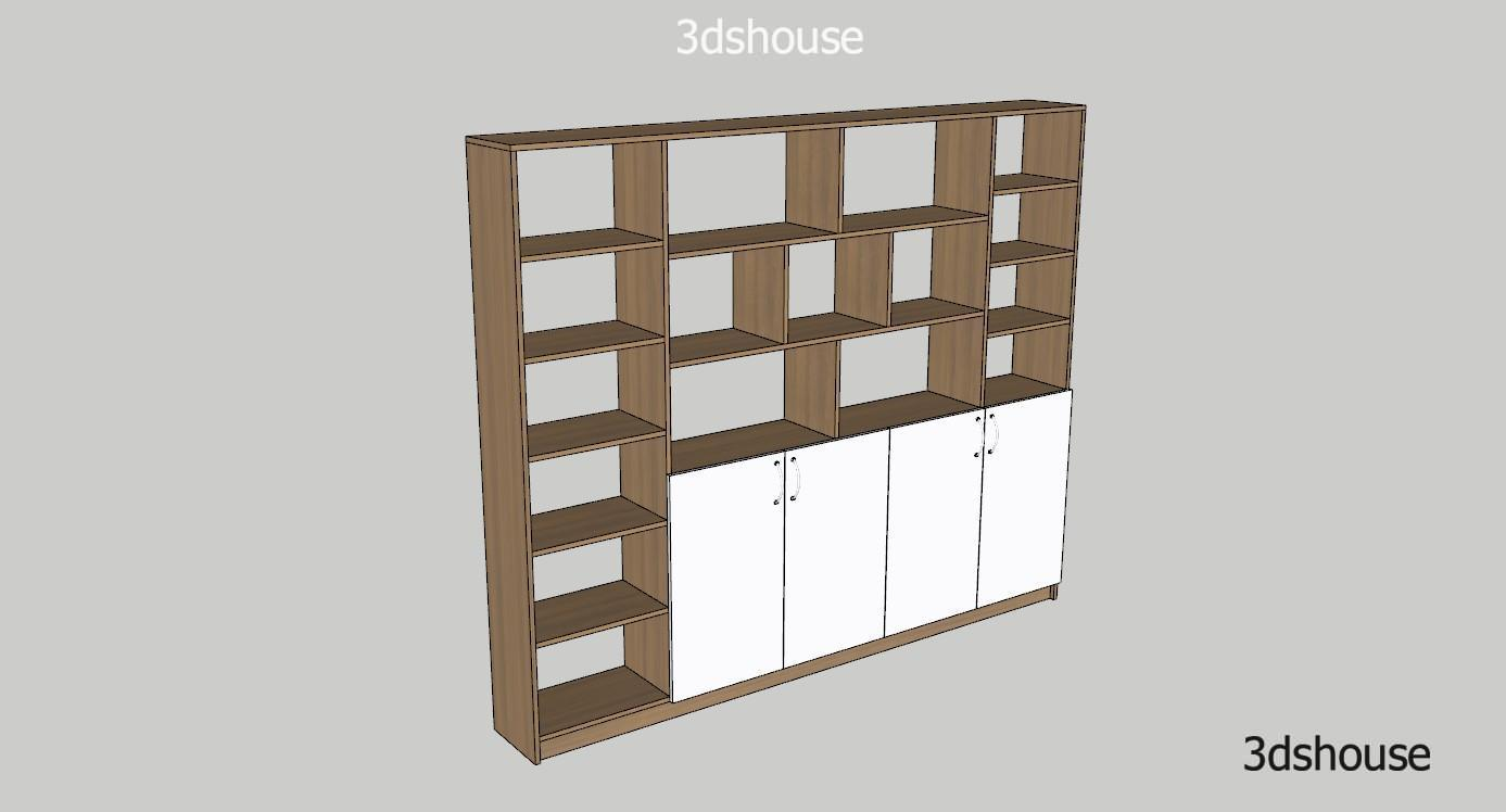 Bookshelves Room Divider Design Sketchup