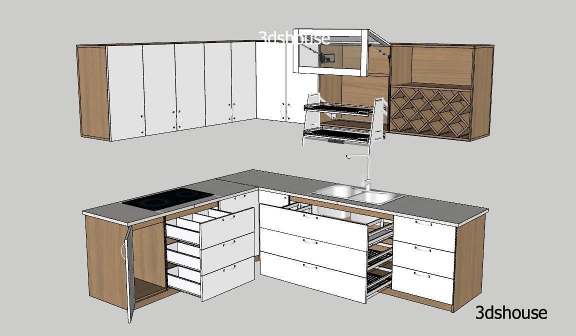 Corner Kitchen Cabinet Design Sketchup