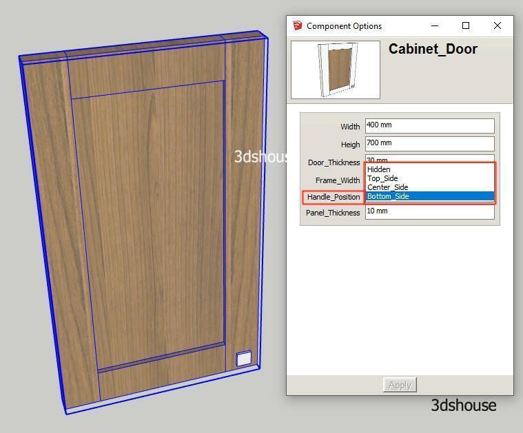 Dyamic Cabinet Door Change Handle Position