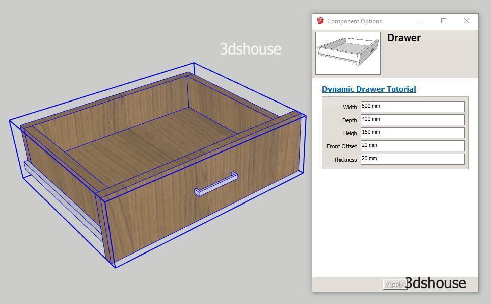 Dyamic Resizable Movement Drawer