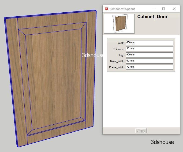 Dynamic Raised Panel Cabinet Door Sketchup