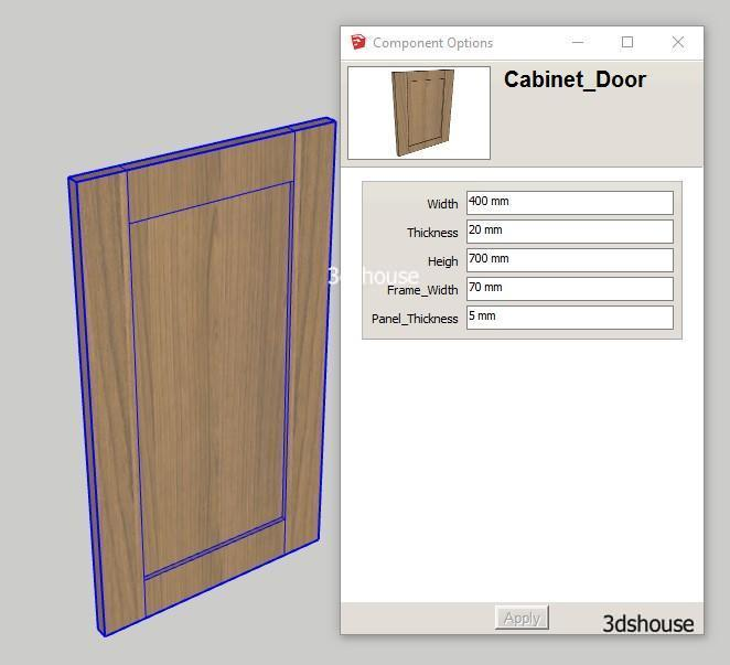 Dynamic Resizable Rotable Cabinet Door
