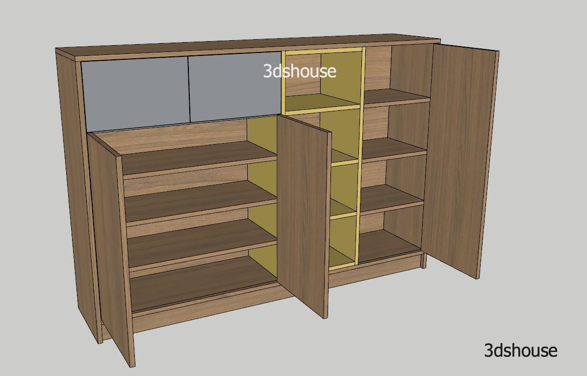 Shoe Cabinet Design Sketchup