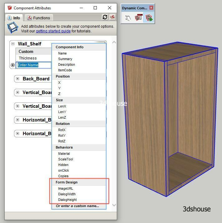 Sketchup Dynamic Form Design Attributes