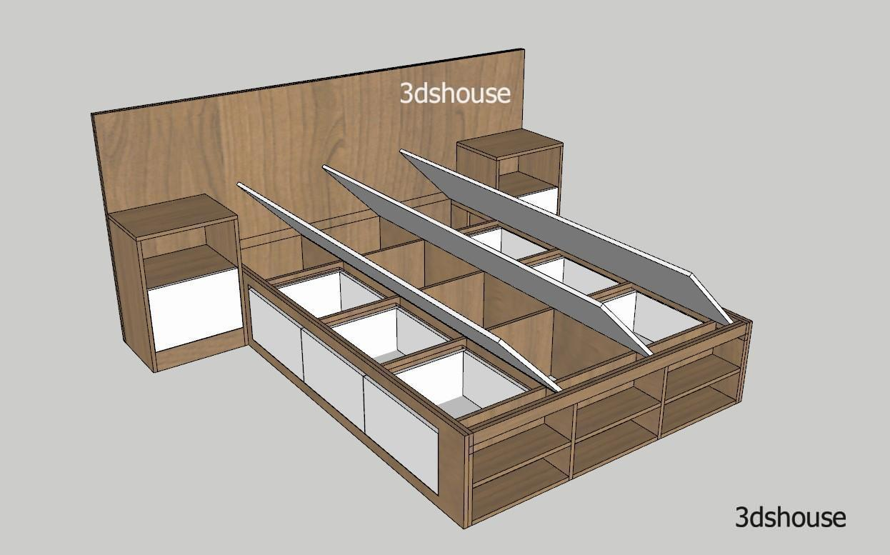 Storage Bed Design