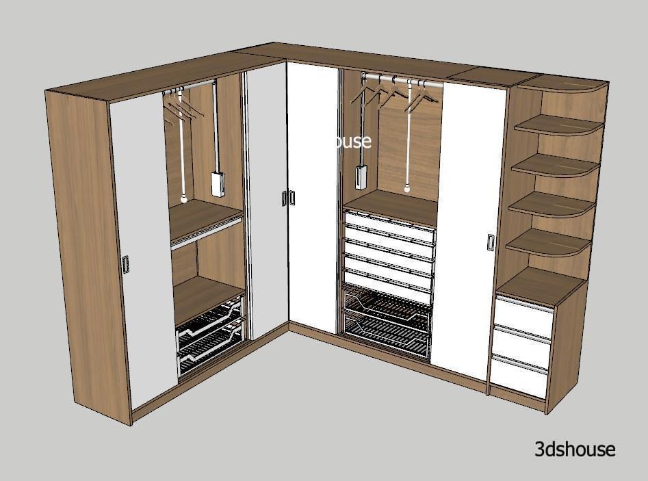 Wardrobe Manufacturing Design Sketchup
